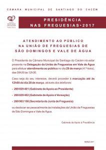 Presidência nas Freguesias 2017