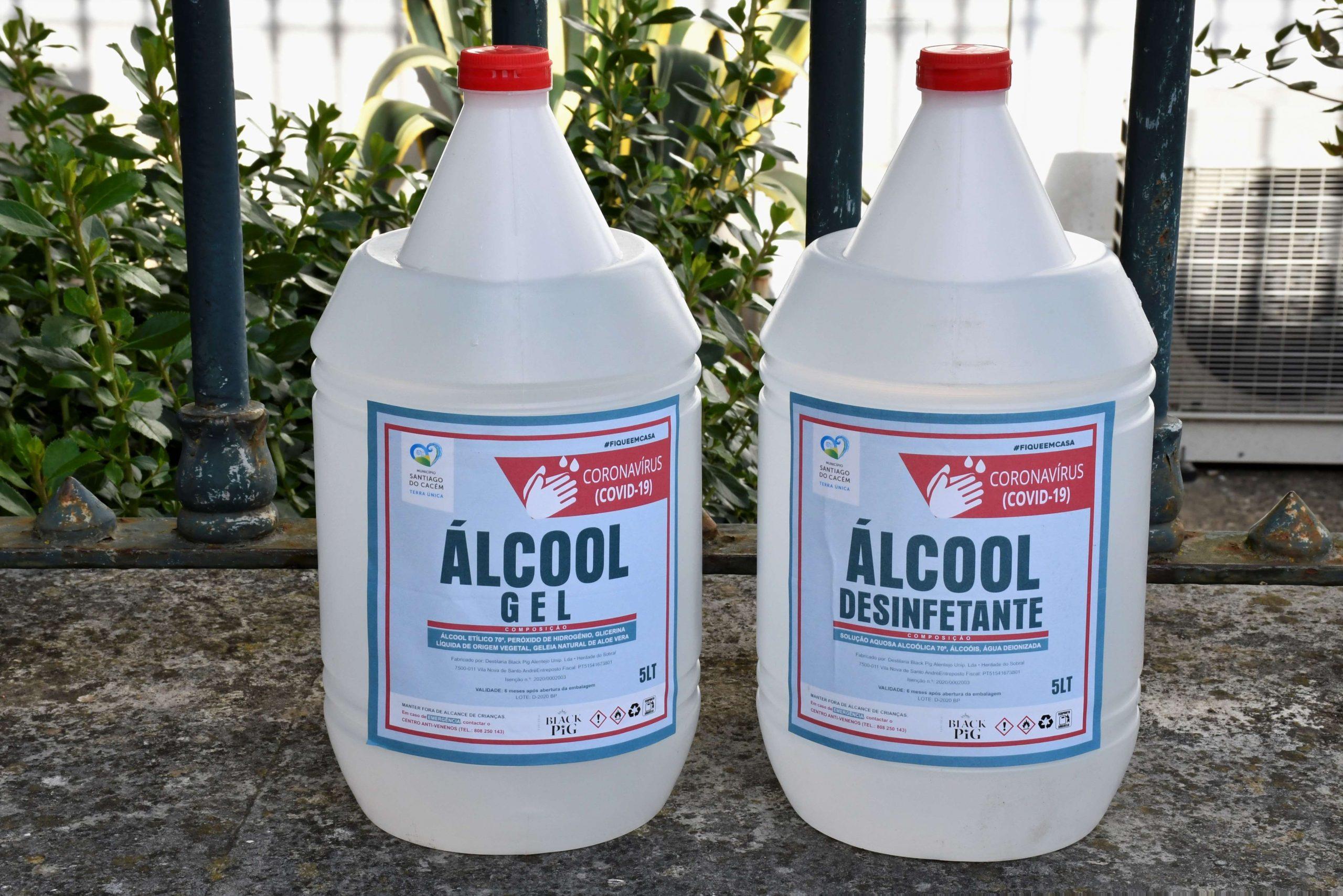 Entrega Alcool Gel Santa Casa da Misericórdia