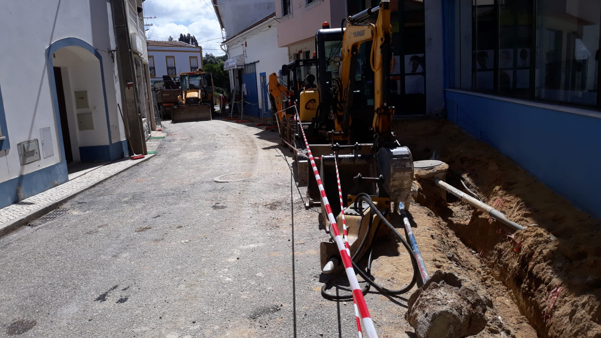 Obras na Rua da Parreira Cercal do Alentejo