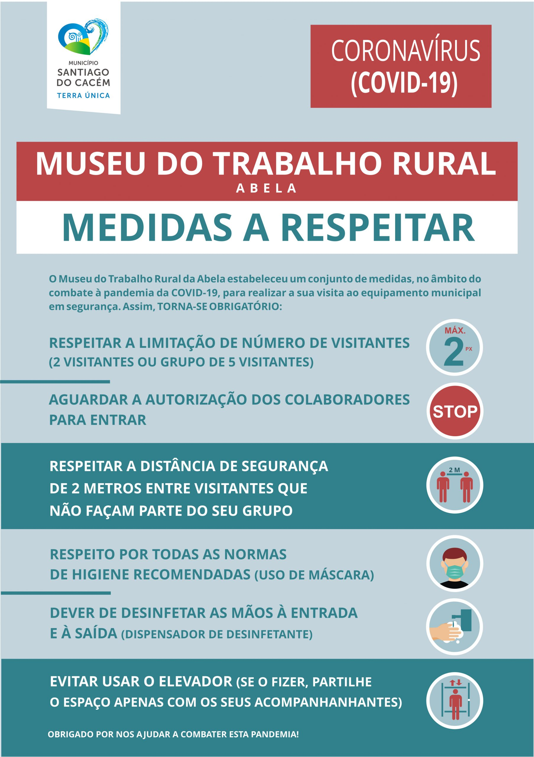 medidas a respeitar para visitar o museu de abela